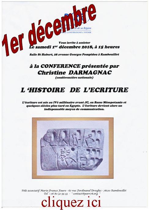 Rambouillet PARR, conférence de Mm Darmagnac