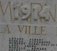 Moi, LAGAND Albert, matricule 1620…