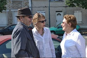inauguration des plaques sur l'atelier de peinture/ sculpture de ses parents a Rambouillet
